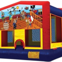 "Pirate or Treasure Island Bounce House 15' 4"" x 15' 4"" x 12'"