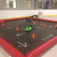 Plasma Car Raceway with Inflatable Ring