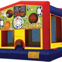 Sports Bounce House 15' 4 x 15' 4 x 12'